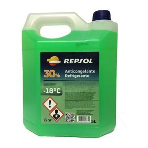Repsol Anticongelante-Refrigerante 30% verde 5Ltrs