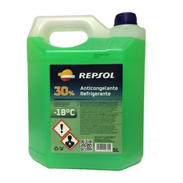 Repsol Anticongelante 30% verde 5Ltrs
