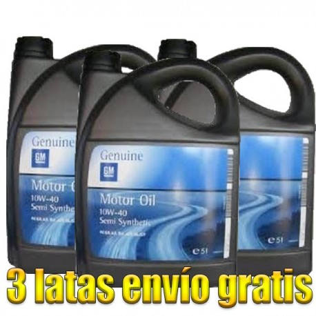 Opel-GM 10w40 5Ltrs -LOTE 3 LATAS-