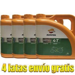 Aceite Repsol Moto Rider 4t 10w40 4Ltrs -LOTE 4 LATAS-