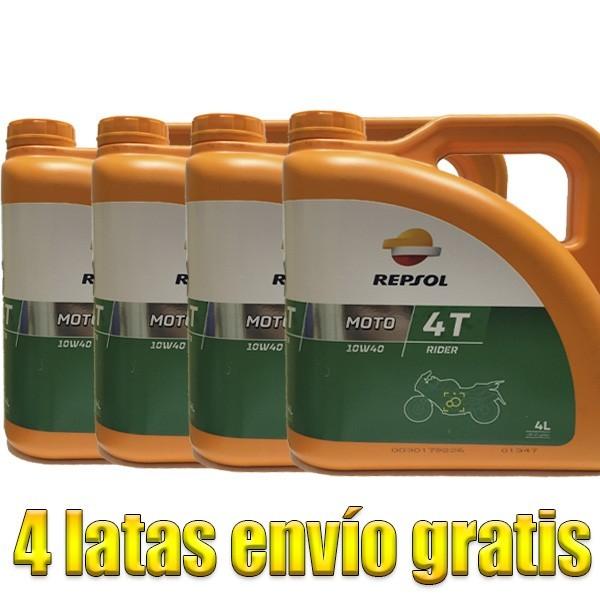 Aceite Repsol Moto Rider 4t 10w40 -LOTE 4 LATAS-