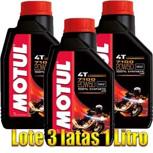 Aceite Motul 7100 Moto 4T 20w50 1Ltr -LOTE 3 LATAS-