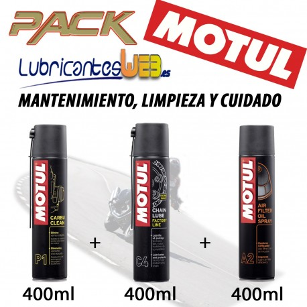 Pack Mantenimiento, Cuidado y Limpieza de la Moto Motul C4P1A2