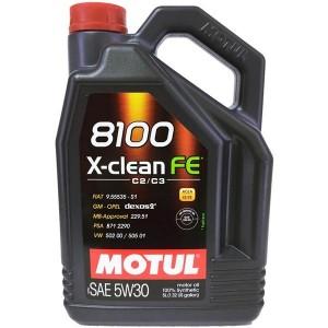 Aceite Motul 5w30 8100 X-Clean FE C3 5L
