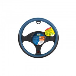 FUNDA DE VOLANTE CLUB NEGRA AZUL 37-39CM OUTLET