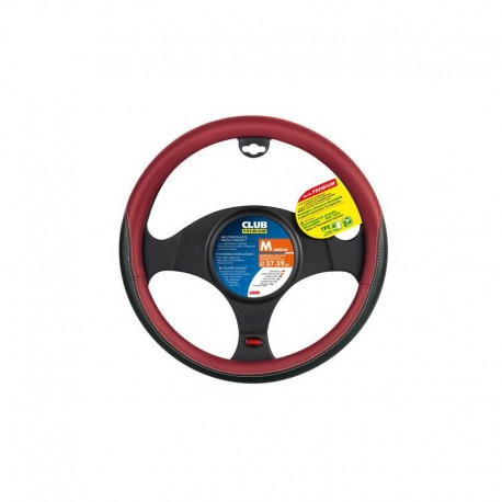 FUNDA DE VOLANTE CLUB NEGRO ROJO 37-39CM OUTLET