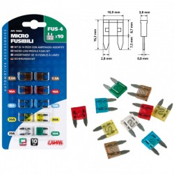BLISTER FUSIBLES MINI 10 PIZ OUTLET