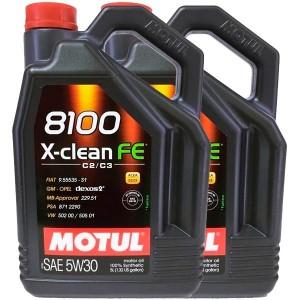 Motul 8100 5w30 X-Clean FE C3 5L -LOTE 2 LATAS-