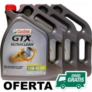 Castrol GTX Ultraclean 10w40 5L - LOTE 3 LATAS