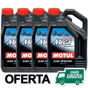 Motul Tekma Mega E5 E7 15w40 OFERTA 4 LATAS 5L