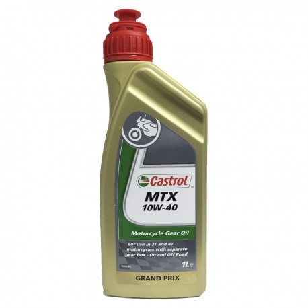 Aceite Castrol Moto 2T y 4T Transmisiones MTX 10w40 1Ltr