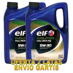 Elf Evolution 5w30 FULL TECH FE 5L -LOTE 2 LATAS-