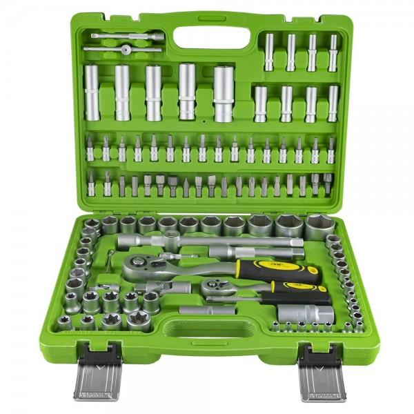 Estuche herramientas 108 Pzas vasos hex.