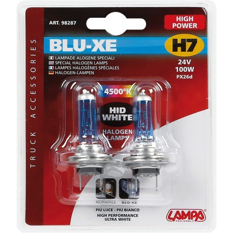 BLISTER 2 LAMPARAS BLUE XENON H7 24V 100W OUTLET