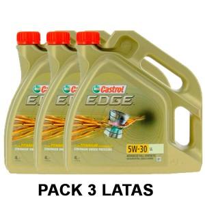 Castrol 5w30 Edge Titanium LL 4L PACK 3 LATAS