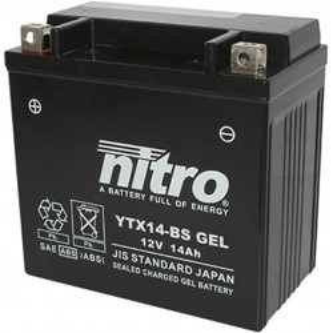 BATERIA MOTO YTX14-BS GEL NITRO