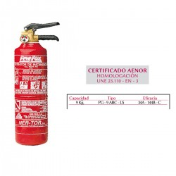 EXTINTOR 9 KGS POLVO CONTRA INCENDI