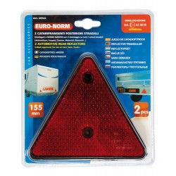 REFLECTORES TRIANGULARES ROJOS 160 MM 2Pzas OUTLET