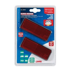 REFLECTORES RECTANGULARES ROJOS 90X35 2Pzas OUTLET