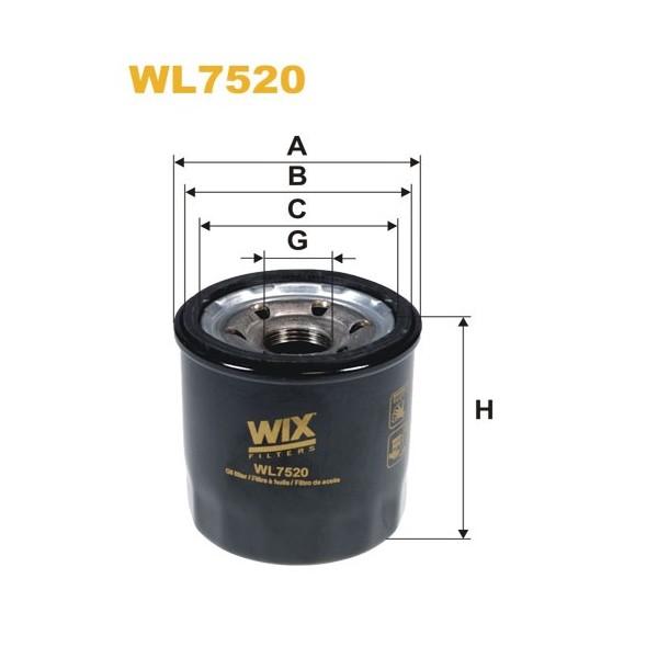 Filtro aceite Wix WL7520