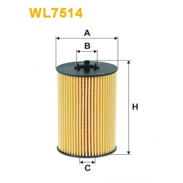 Filtro aceite Wix WL7514