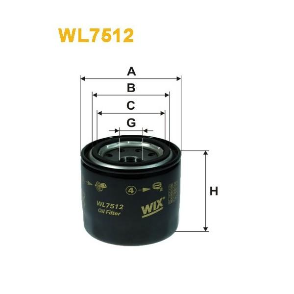 Filtro aceite Wix WL7512