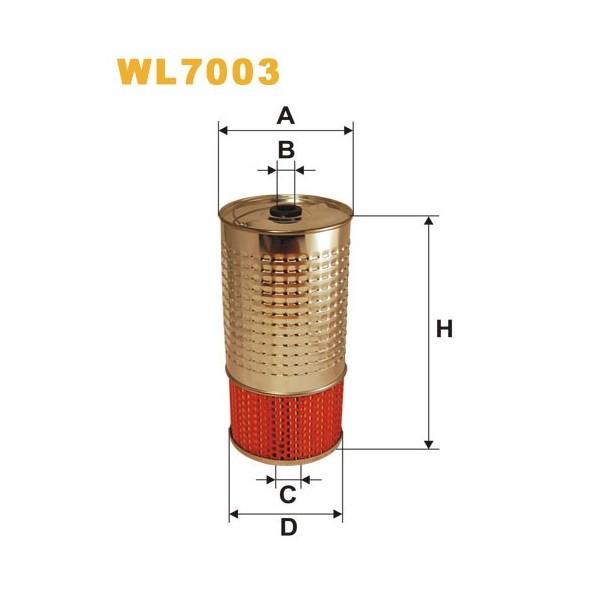 Filtro aceite Wix WL7003