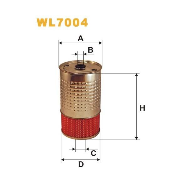 Filtro aceite Wix WL7004