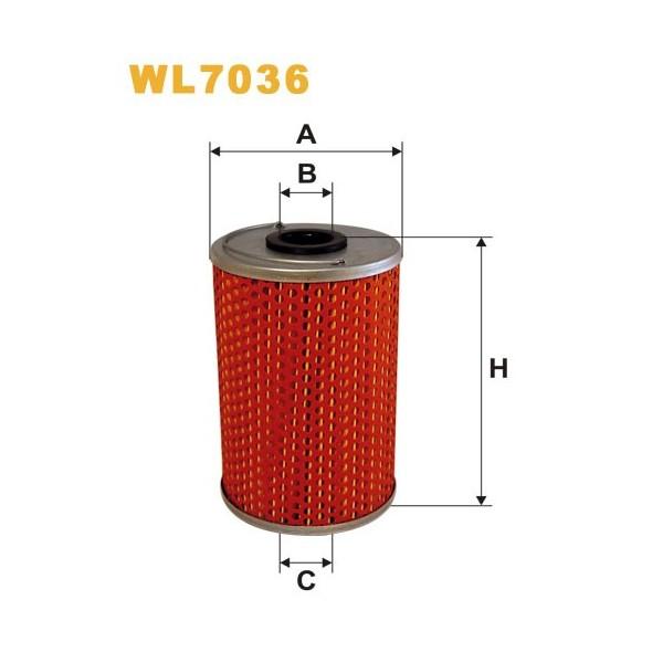 Filtro aceite Wix WL7036