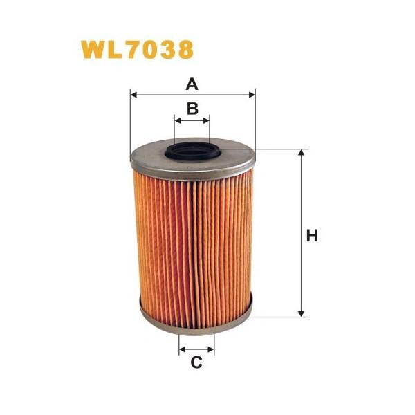 Filtro aceite Wix WL7038