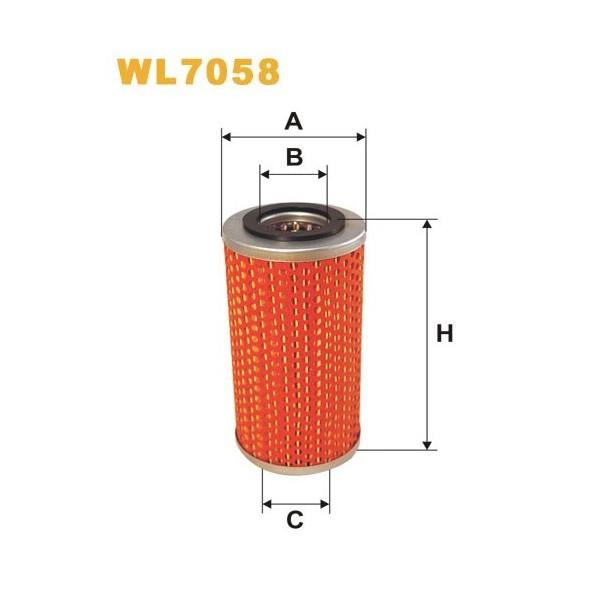 Filtro aceite Wix WL7058