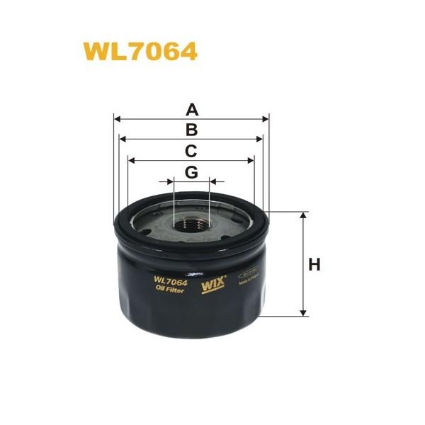 Filtro aceite Wix WL7064