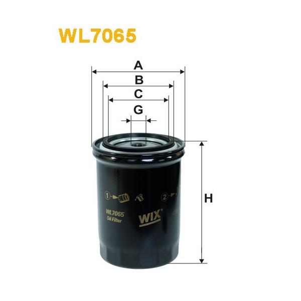Filtro aceite Wix WL7065