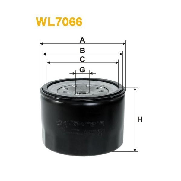 Filtro aceite Wix WL7066