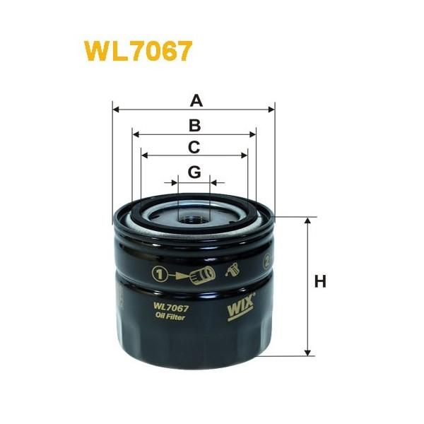 Filtro aceite Wix WL7067