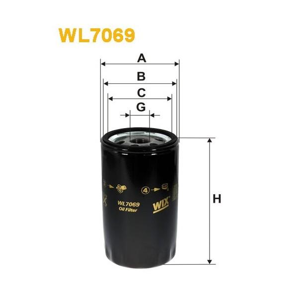 Filtro aceite Wix WL7069