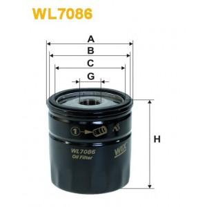 Filtro aceite Wix WL7086