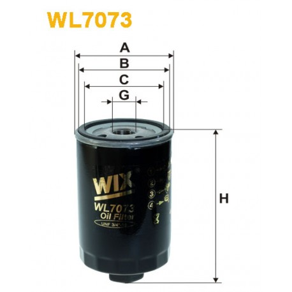 Filtro aceite Wix WL7073