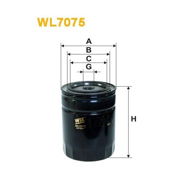 Filtro aceite Wix WL7075