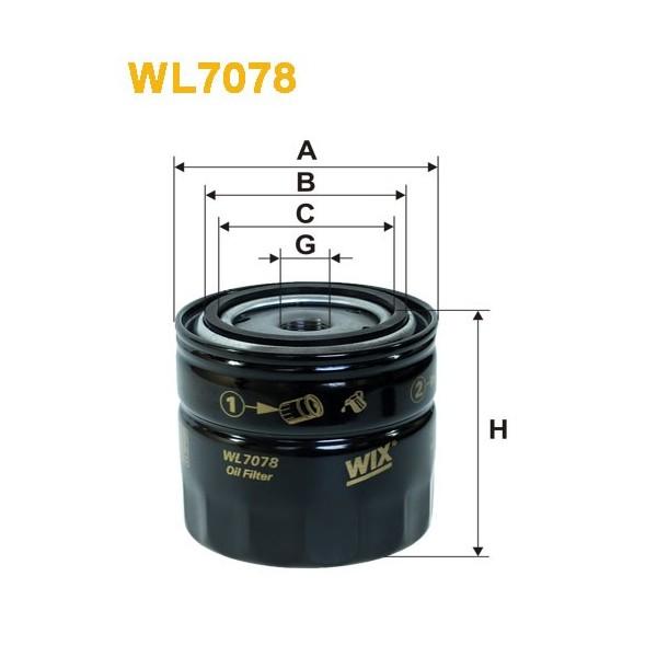 Filtro aceite Wix WL7078