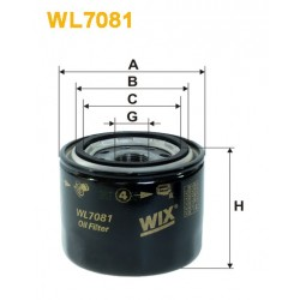 Filtro aceite Wix WL7081