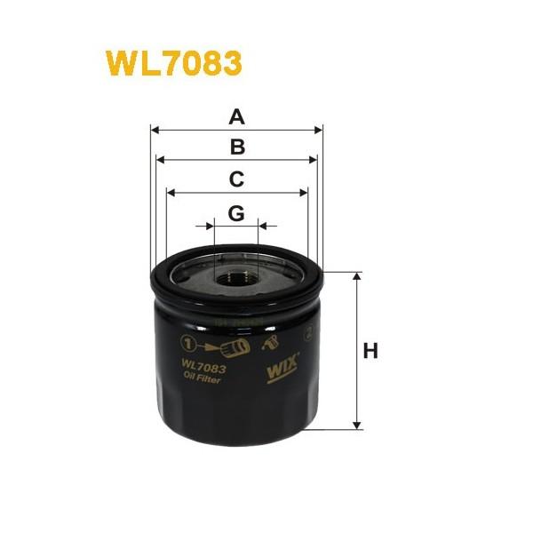 Filtro aceite Wix WL7083