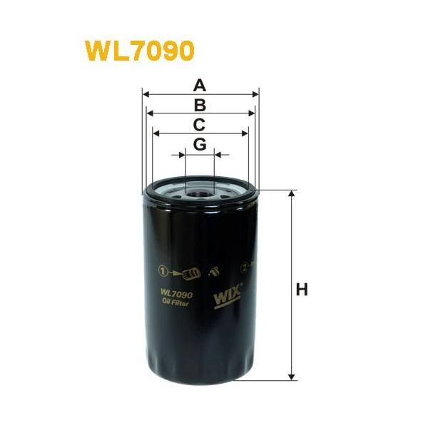 Filtro aceite Wix WL7090