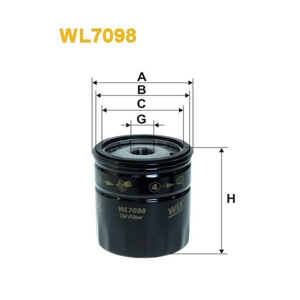 Filtro aceite Wix WL7098