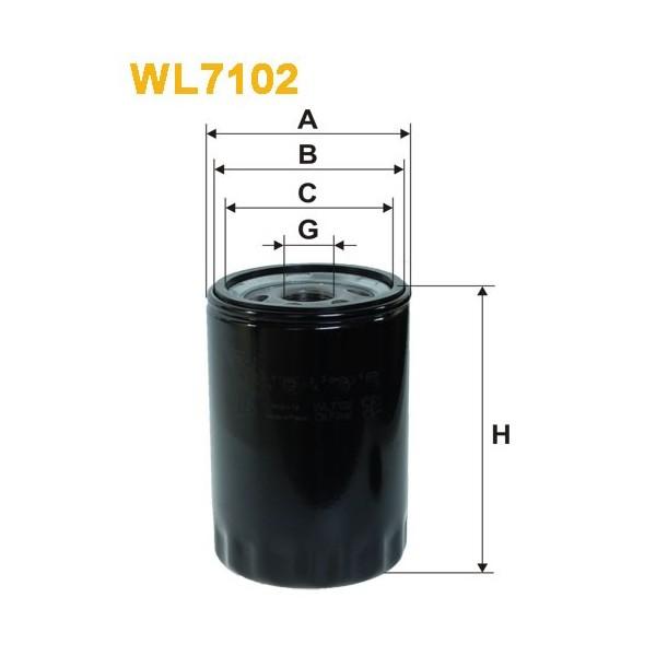 Filtro aceite Wix WL7102