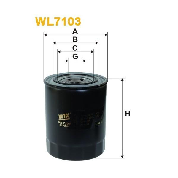 Filtro aceite Wix WL7103