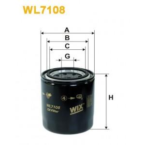Filtro aceite Wix WL7108