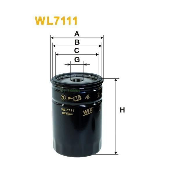 Filtro aceite Wix WL7111