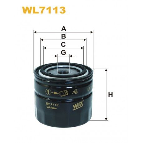Filtro aceite Wix WL7113