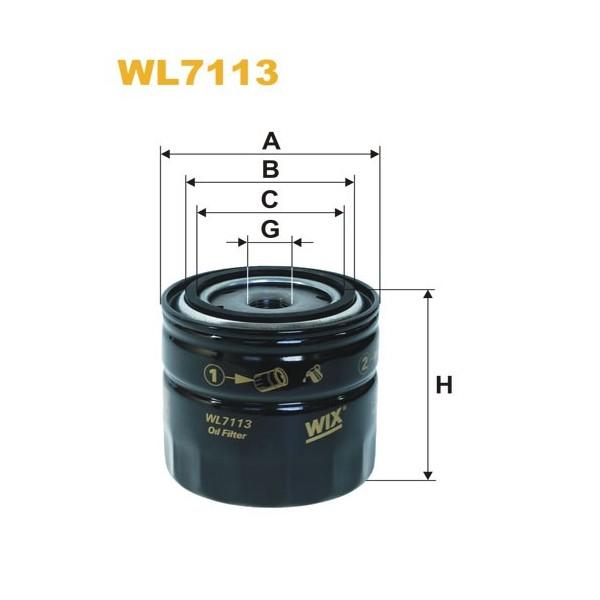 Filtro aceite Wix WL7114